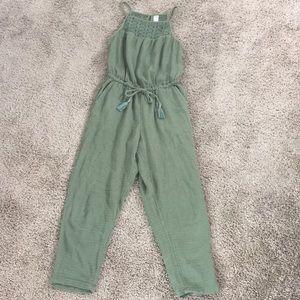 Green jumpsuit, XS